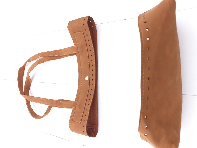 KnitPro Taschenset aus Kunstleder Henkel und Boden